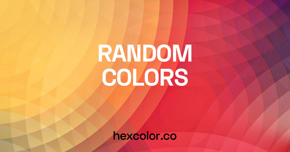 Random Hex Color Code Generator